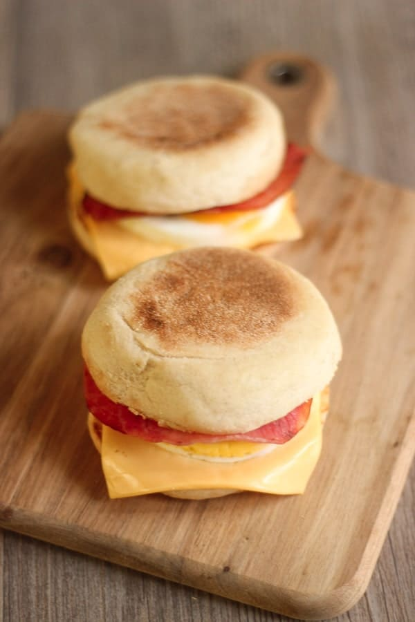 Egg muffin au bacon