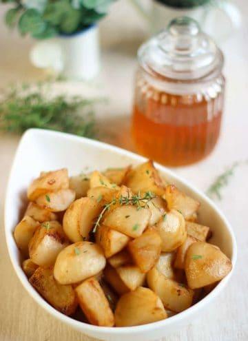 Recette navets au miel et au thym
